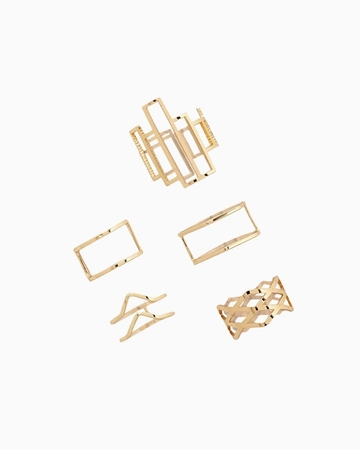 Picture of Caged Midi Ring Set