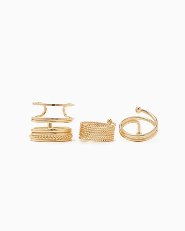 Picture of Cutout Midi Ring Set
